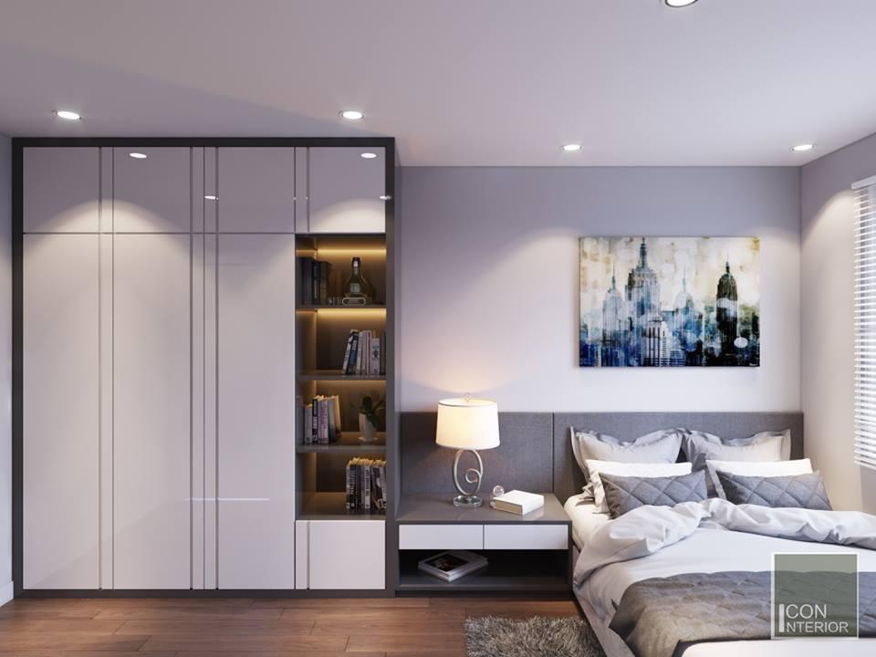 phòng ngủ căn hộ chung cư 50m2