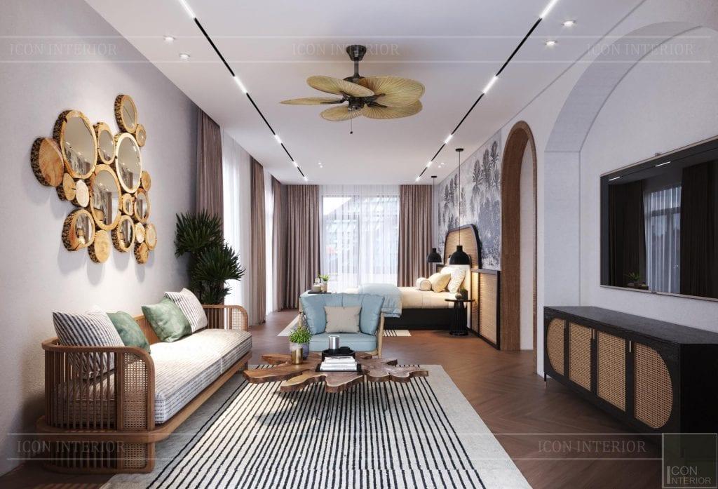 Thiết kế phòng ngủ hút mắt Tropical Style