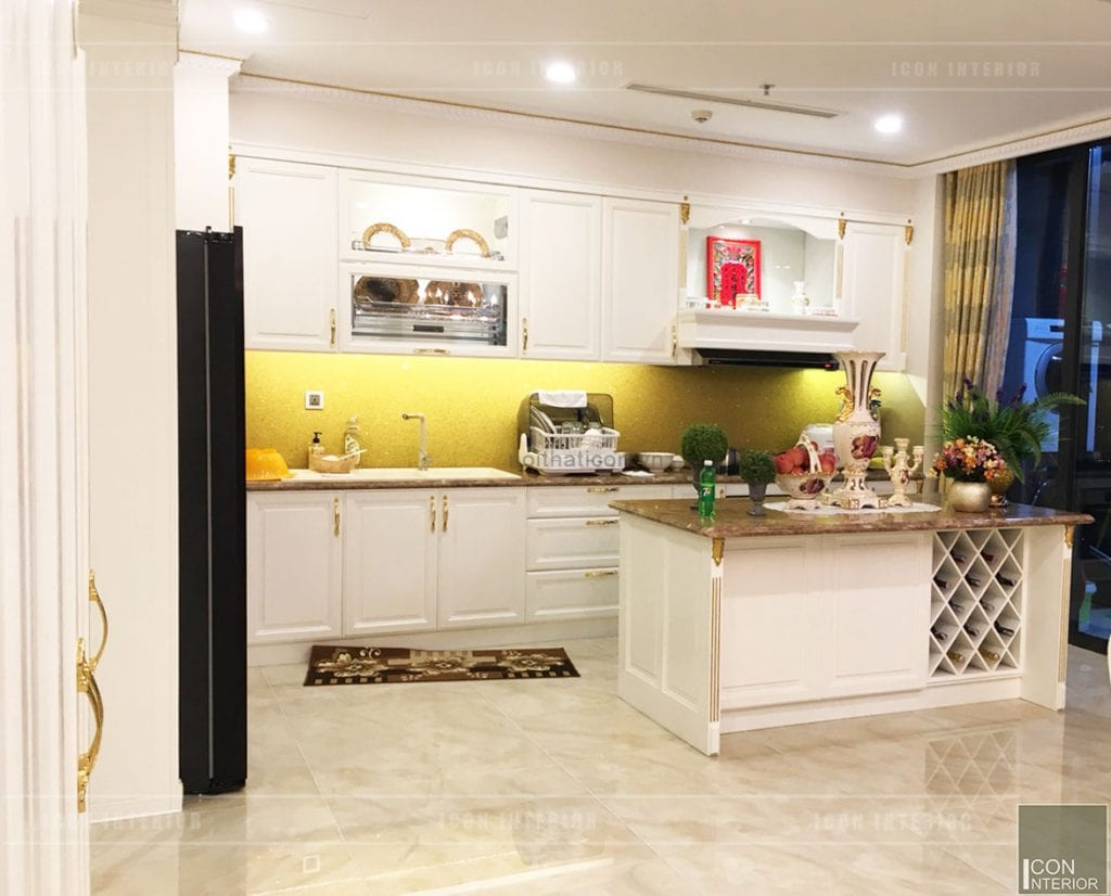 thi công căn hộ vinhomes golden river - nhà bếp