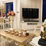 thi công căn hộ vinhomes golden river - phòng khách