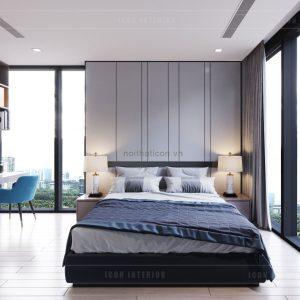 thiết kế nội thất căn hộ 3 phòng ngủ - phòng master