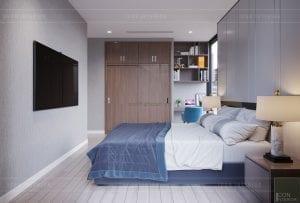 thiết kế nội thất căn hộ 3 phòng ngủ phòng ngủ master