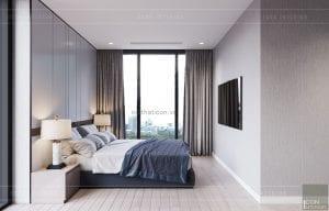 thiết kế nội thất căn hộ 3 phòng ngủ - phòng ngủ master