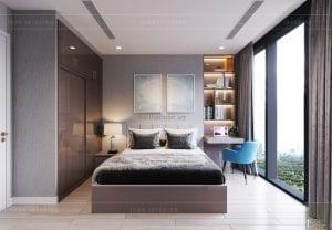 thiết kế nội thất căn hộ 3 phòng ngủ phòng ngủ