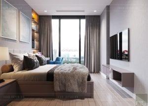 thiết kế nội thất căn hộ 3 phòng ngủ - phòng ngủ