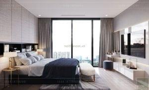 thiết kế nội thất căn hộ 3 phòng ngủ - phòng ngủ nhỏ