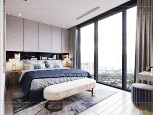 thiết kế nội thất phòng ngủ nhỏ căn hộ 3 phòng ngủ