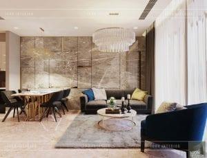 thiết kế chung cư vinhomes ba son - phòng khách
