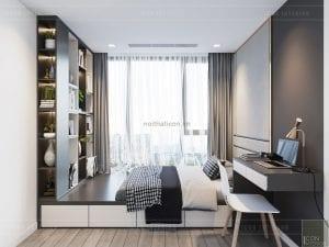 thiết kế chung cư vinhomes ba son - phòng ngủ nhỏ