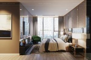thiết kế chung cư vinhomes ba son - phòng master
