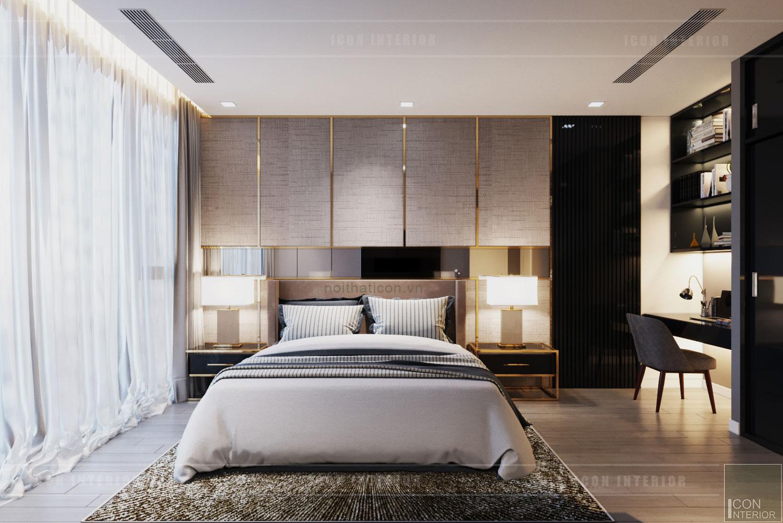 thiết kế nội thất phòng ngủ chungc ư 75m2