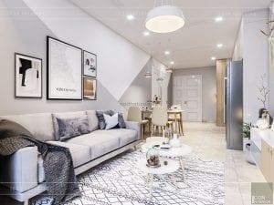 thiết kế căn hộ Scandinavian
