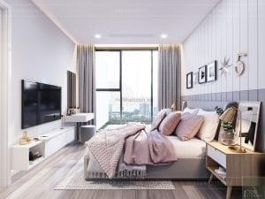thiết kế căn hộ Scandinavian - phòng ngủ
