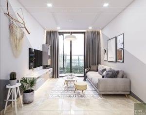 thiết kế căn hộ Scandinavian - phòng khách