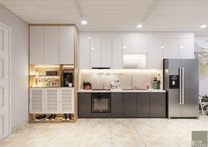 thiết kế căn hộ Scandinavian - nhà bếp