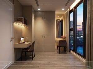 thiết kế căn hộ chung cư cao cấp - phòng trang điểm