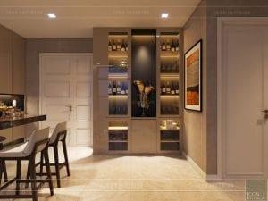 thiết kế căn hộ chung cư cao cấp - phòng khách