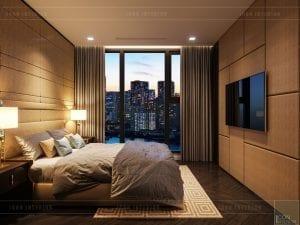 thiết kế căn hộ chung cư cao cấp - phòng ngủ