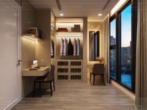 thiết kế căn hộ chung cư cao cấp - phòng thay đồ
