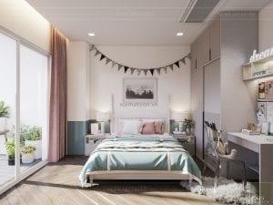 thiết kế căn hộ grand riverside - phòng bé