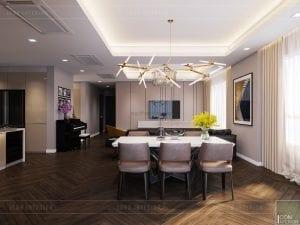 thiết kế căn hộ grand riverside - phòng ăn