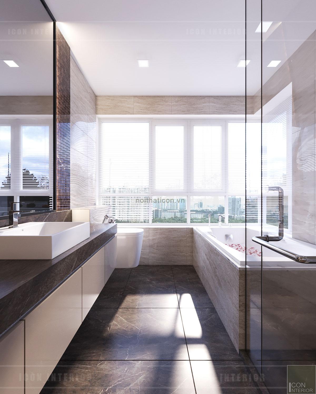 thiết kế căn hộ grand riverside - phòng tắm
