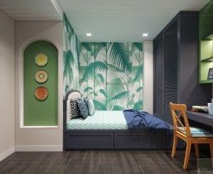 nhà phong cách địa trung hải - phòng ngủ nhỏ