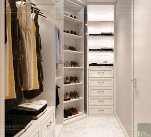 tư vấn thiết kế nội thất căn hộ - phòng thay đồ