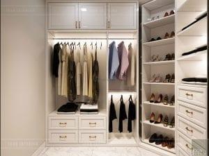 tư vấn thiết kế nội thất căn hộ phòng thay đồ