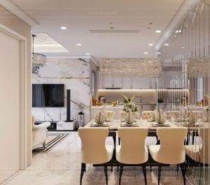 tư vấn thiết kế nội thất căn hộ - phòng ăn