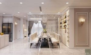 tư vấn thiết kế nội thất căn hộ phòng ăn