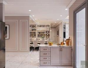 tư vấn thiết kế nội thất căn hộ quầy bar