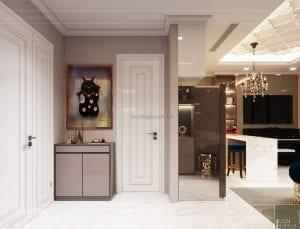 thiết kế căn hộ landmark 81 - tiền sảnh