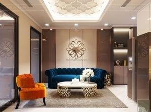 thiết kế căn hộ landmark 81 - phòng khách