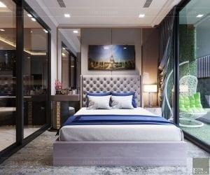 thiết kế căn hộ landmark 81 - phòng ngủ master