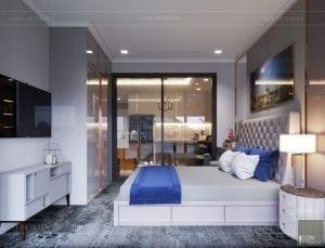 thiết kế căn hộ landmark 81 - phòng ngủ