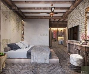 phong cách rustic trong nội thất - phòng master