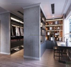 thiết kế nội thất park hill - phòng thay đồ