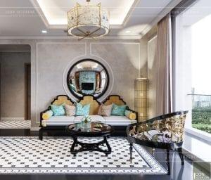 thiết kế nội thất park hill - phòng khách