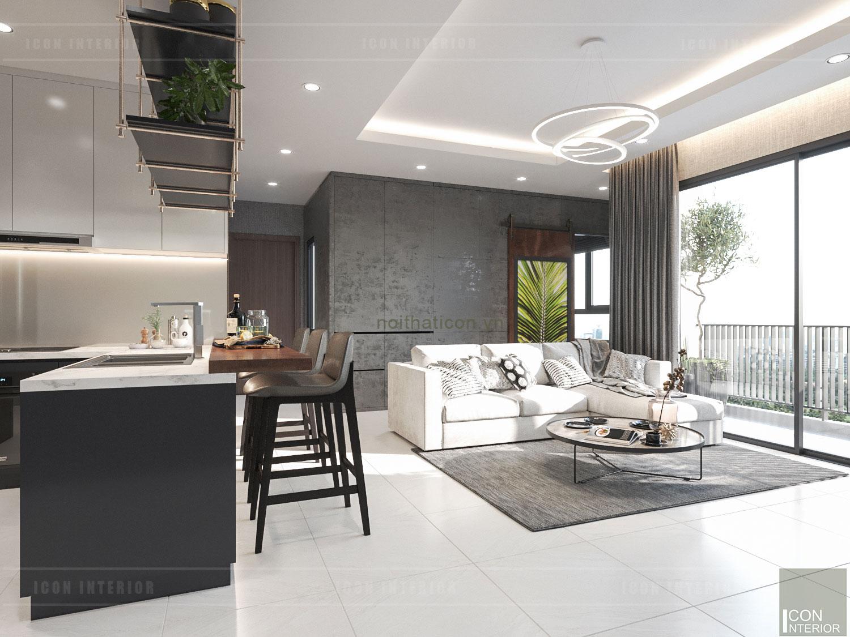 Thiết kế tối giản nhà chung cư đẹp 70m2 Masteri Millenium