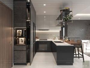 thiết kế nội thất masteri millennium - nhà bếp