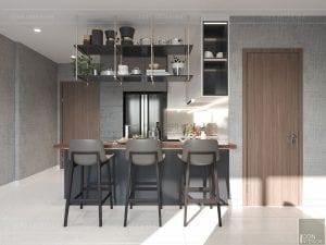 thiết kế nội thất masteri millennium - quầy bar