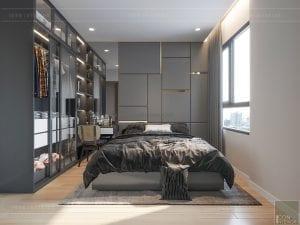 thiết kế nội thất masteri millennium - phòng master
