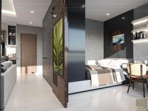 thiết kế nội thất masteri millennium - pòng ngủ nhỏ