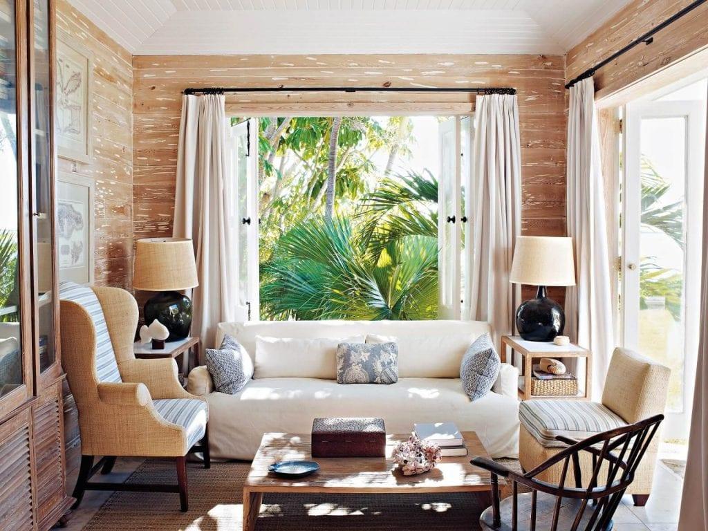 Chất liệu tơ lụa trong Tropical Style