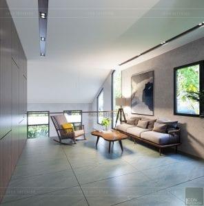 mẫu thiết kế nội thất biệt thự 2 tầng hiện đại phòng sinh hoạt chung