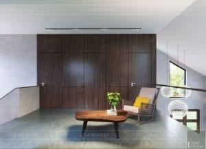 mẫu thiết kế biệt thự 2 tầng hiện đại phòng sinh hoạt chung