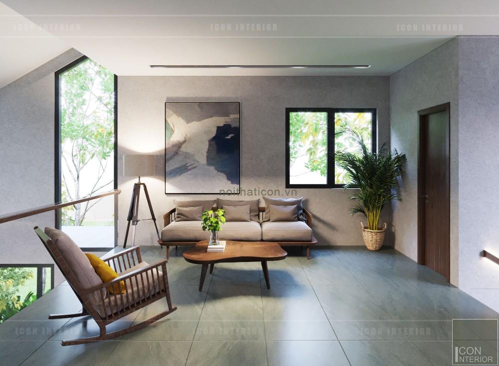 mẫu thiết kế biệt thự 2 tầng hiện đại - phòng sinh hoạt chung