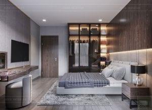 mẫu thiết kế nội thất biệt thự 2 tầng hiện đại phòng ngủ 1