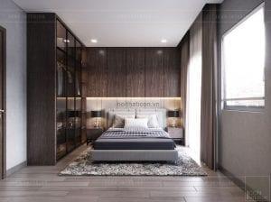 mẫu thiết kế biệt thự 2 tầng hiện đại phòng ngủ 1